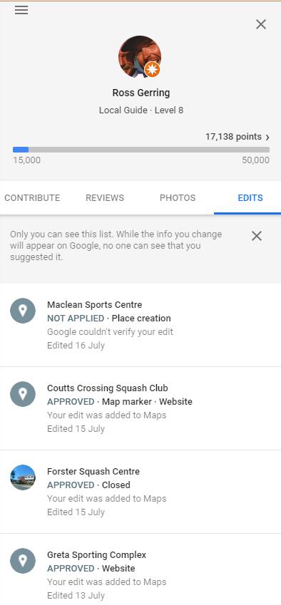 Google Local Guide Level 8 edits