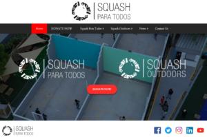 Screenshot of the Squash Para Todos website